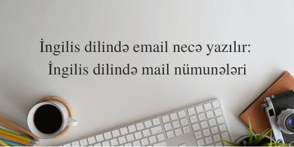 İngilis dilində email