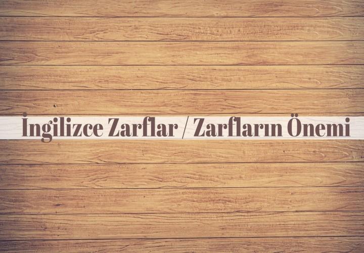 İngilizce Zarflar