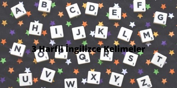 3 Harfli İngilizce Kelimeler