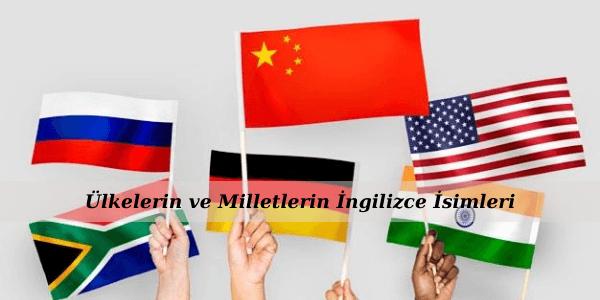 Ülkelerin ve Milletlerin İngilizce İsimleri
