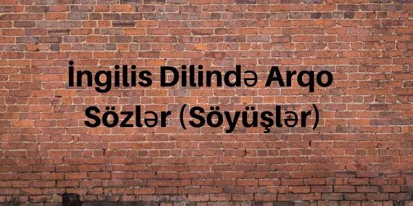 İngilis Dilində Arqo Sözlər (Söyüşlər)