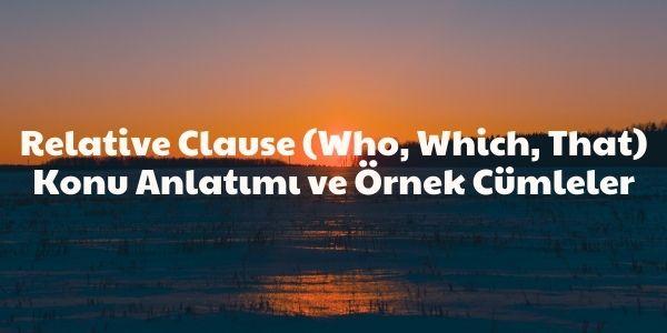 relative clause konu anlatımı