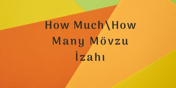 How Much\How Many Mövzu İzahı