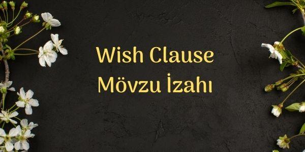Wish Clause Mövzu İzahı