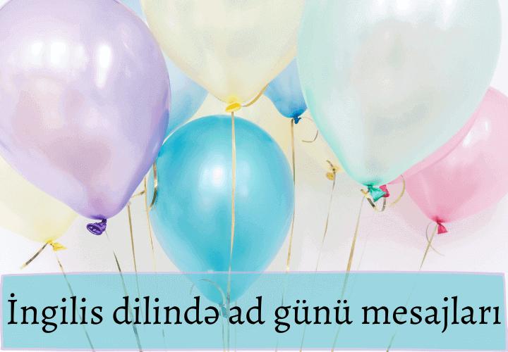 İngilis dilində ad günü mesajları